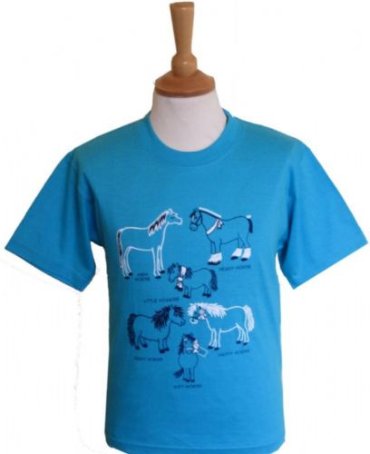 British Country Collection 'All Kinds of Horses' T-Shirt